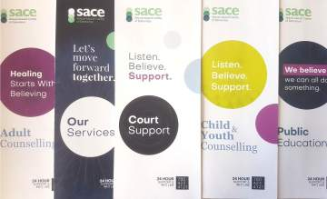 SACE Brochures, Featuring Our New Court Support Program