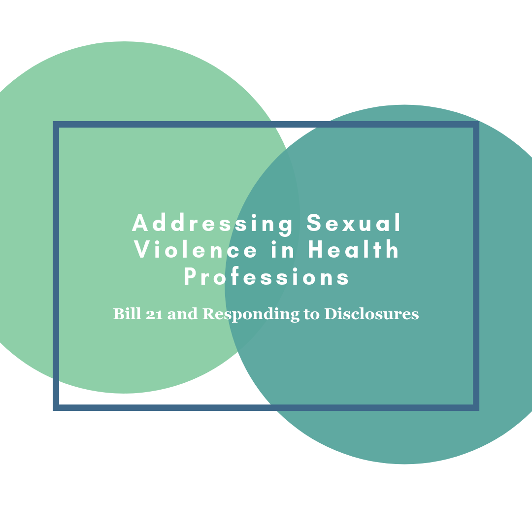 New Training Opportunity: Addressing Sexual Violence In Health Professions