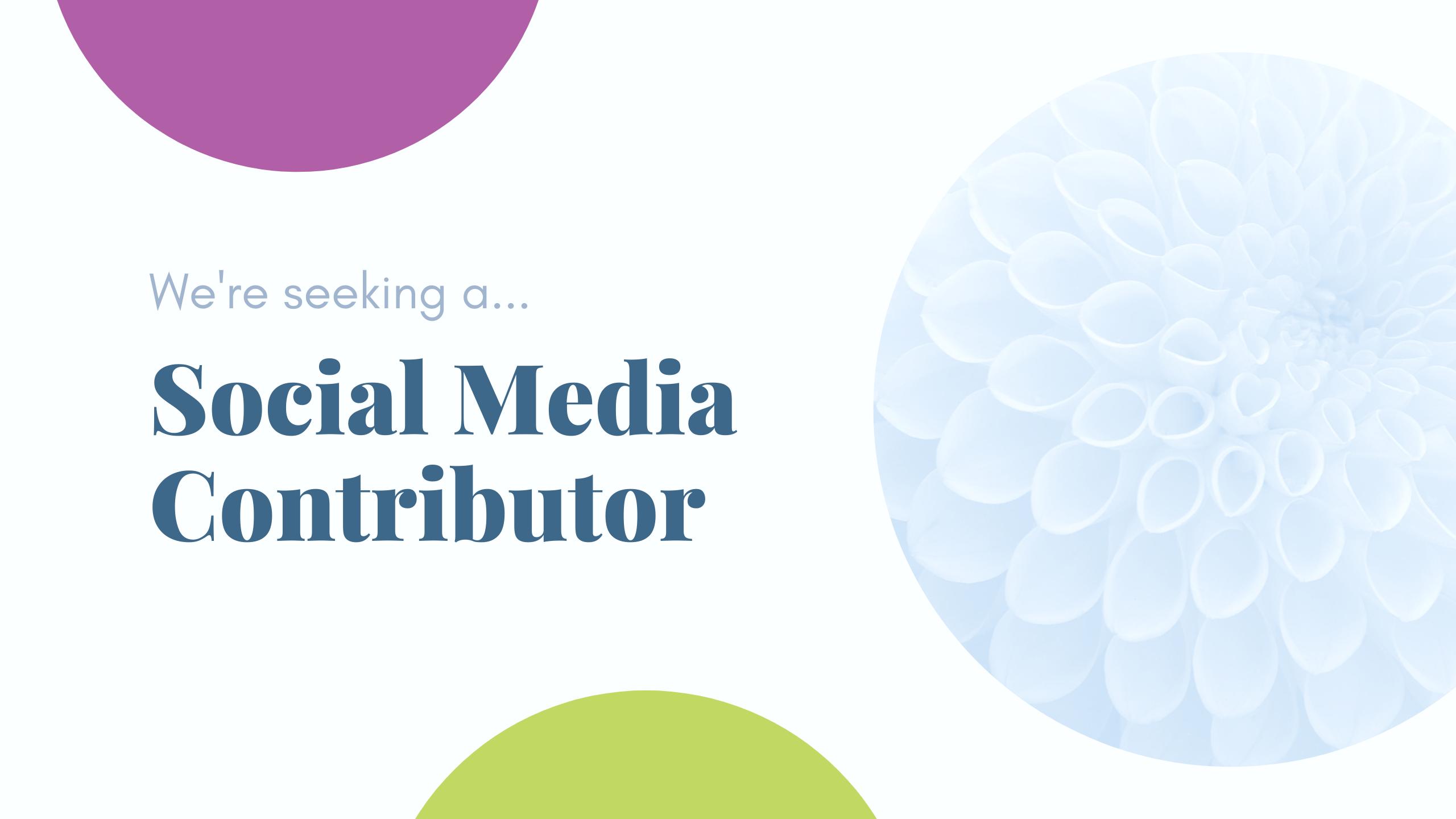 Social Media Contributor
