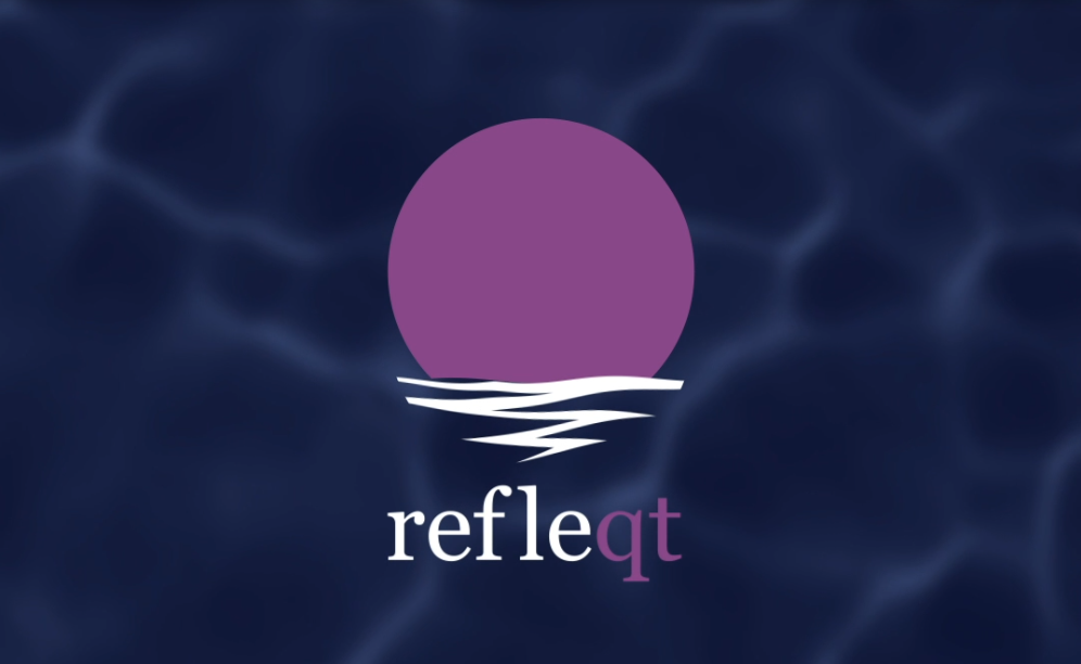 RefleQT Logo Featuring Sunlight Reflecting On Water