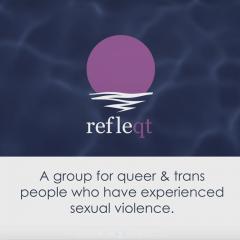 RefleQT Logo Featuring Sunlight Reflecting On Water