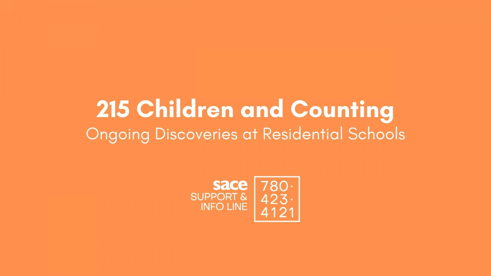 215 And Counting Ongoing Discoveries At Residential Schools